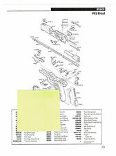 RUGER MODELS P95 AND P97 DAO PISTOLS EXPLODED VIEW & PARTS LIST 2011 AD