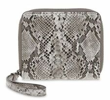 BNWT Authentic LIZ CLAIBORNE Zip Around Small Wallet Wristlet Grey Snake