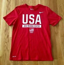 NIKE dri-fit athletic cut men's short sleeve red tshirt - size medium
