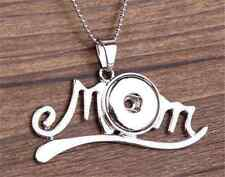 DIY 1pcs Mom LOVE Alloy Pendant With Noosa Necklace Fit Snap Chunk Button NEW