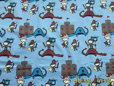 Knights and Dragons Cotton Jersey Knit Fabric