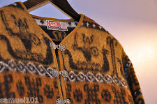 AUTHENTIC DEVOLD Wool NORWEGIAN SWEATER VIKING SHIPS Mens 42 MEDIUM Ski Nordic