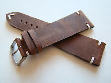 Cinturino vintage in cuoio grezzo 24 mm Made in Italy handmade watch band strap