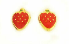 14k Gold Fancy Strawberry Inspired Screw Back Earrings ON SALE ONLY THIS WEEK!!