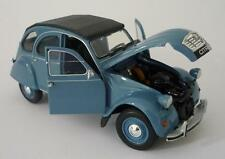 Boys Toy Model Diecast 1/24 Blue CITROEN 2CV CAR Boxed Christmas Present New