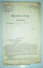 Dokument Konvolut Weinsteuerbuch über Flaschenwein Neukirch Sachsen 1926 ! (D