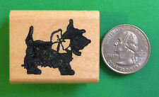 Scotty Stencil - Dog Rubber Stamp, Wood Mounted