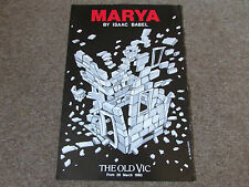 MARYA by Isaac BABEL 1990 the Old VIC Theatre Original Poster