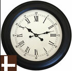Oversize Large Black Station Roman Numeral Wall Clock 60cm Next Day Despatch