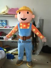 adult mascot bob the builder costumes party fancy dress halloween clothing