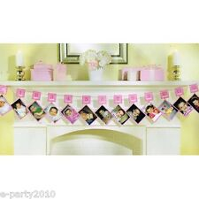 1st BIRTHDAY GIRL PHOTO HOLDER GARLAND ~ First Party Supplies Decorations Pink