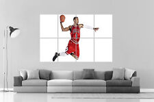 chicago bulls slam-dunK basket nba derrick- Rose Poster A0 Large Print