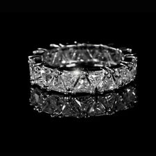 3.00CT TRIANGLE CUT DIAMOND FULL ETERNITY RING 14K WHITE GOLD ANNIVERSARY BAND
