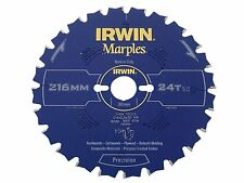 IRWIN IRW1897453 216 x 30mm 24-Teeth Irwin Marples Circular Saw Blade with ATB T