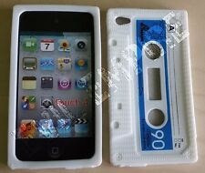 Retro Silicone Rubber 3D Cassette Tape Case Skin for iPod Touch 4 4th Generation