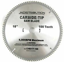 "10""  100 TOOTH CARBIDE SAW BLADE TABLE MITRE CHOP SAW BLADE 5/8"" & 1"" ARBOR"