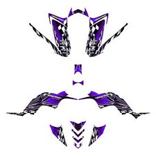 Yamaha Raptor 90 graphics YFM 90R custom QUAD sticker kit #2500 Purple