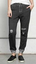 rag & bone Miramar Pajama Jean Digital Print Jogger Pants rock w/holes Small NWT