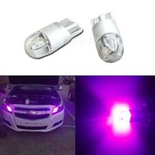 2pcs 360 degree Purple T10 W5W 2825 2-3030-SMD LED Bulbs For Car Parking Light