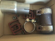 Small lot of used exhaust hardware from a Miltek exhaust for 2003 VW JETTA VR6