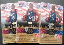 3x Upper Deck USA Gold Edition Basketball 1996-97 11 Pack Box Dream Team