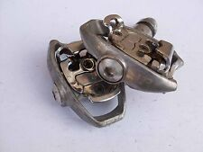 Used bicycle pedals vintage VP clipless SPD Mountain bike MTB alloy silver