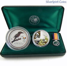 2003 AUSTRALIANS AT WAR WORLD WAR 1 2oz Kookaburra Coin & 1oz Medallion Set