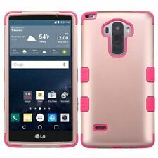 For LG G Stylo/G Vista 2 Rose Gold Pink Tuff Hard Silicone Hybrid Case Cover