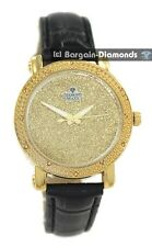 ladies diamond gold bling dial party watch leather warranty maxx