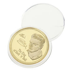 1X Gold Iron 1935-1977 Elvis Presley The King of N Rock Roll Commemorative Coins