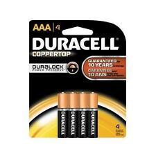Duracell Coppertop AAA Alkaline Batteries 1.5 Volt 4 Each