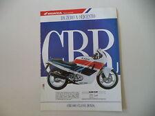 advertising Pubblicità 1990 MOTO HONDA CBR 600 F