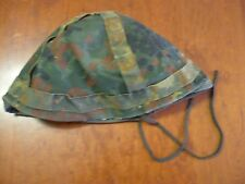 VINTAGE COMBAT WEST GERMANY CAMO COVER HELMET 1960'S-1970'S MARKED S 57-61 USED