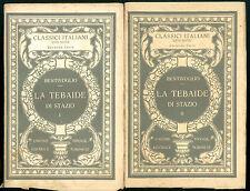 BENTIVOGLIO CORNELIO LA TEBAIDE DI STAZIO 2 VOLUMI UTET 1928 CLASSICI ITALIANI