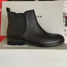 New Cole Haan Women's Landsman Bootie Leather Ankle Boot Black 10