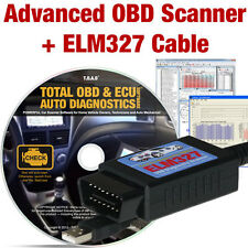 Car Diagnostics Tuning Software + ELM327 USB (OBD OBD2 OBDII Scan Tool Scanner)