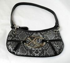 XOXO Faux Snakeskin Black & White Small Handbag, NWOT