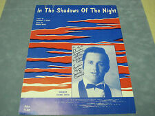 IN THE SHADOWS OF THE NIGHT SHEET MUSIC SIGNED BY FREDDIE RIVAS & MARIO CASINI