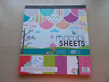 Cheerful Springy Whimsical MAMBI Specialty Paper 48 Sheets 12x12 New