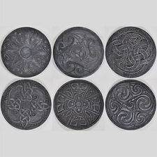Celtic Coasters Gothic Black Set of 6 Halloween Creepy Decor Pagan Magic 34102