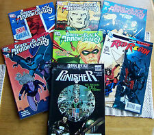 LOT OF 7 DC & MARVEL COMICS. GREEN ARROW & BLACK CANARY AND OTHERS. (0387)