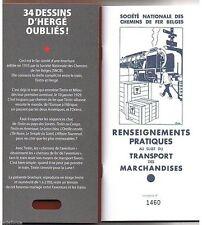 Hergé - 34 Dessins oubliés - TL Fac Similé - SNCB