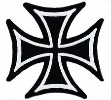 Toppe Toppa PATCH BIKER MOTO black  MALTESE CROSS TERMOADESIVO CONFEDERATE