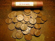 "Lincoln Wheat Cent Penny Roll Mixed Thirties, All ""D&S"" Mints!"
