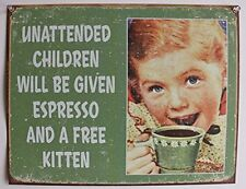 Cute Funny Retro Tin Sign Vintage Wall Art Home Restaurant Kitchen Office Decor