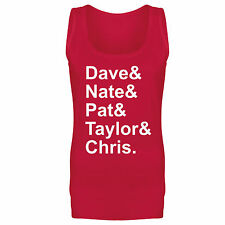 Womens Foo Fighters Names Dave Nate Pat Taylor Chris Slogan Vest Tank Top NEW