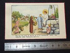 CHROMO 1950 IMAGE PIEUSE CATHOLICISME HOLY CARD COMMUNION JESUS ENFANTS RELIGION