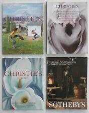 4 Sotheby's Christie's Art Auction Catalogs w/ American Artist Paintings NoRes.!