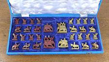 schönes altes Schachspiel Speckstein Arabische Figuren ca.50er Jahre