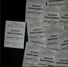 20 ETIQUETTES PHARMACIE SIROP PECTO 1900 20 OLD PHARMACY LABELS NANTES J. CHAPEL